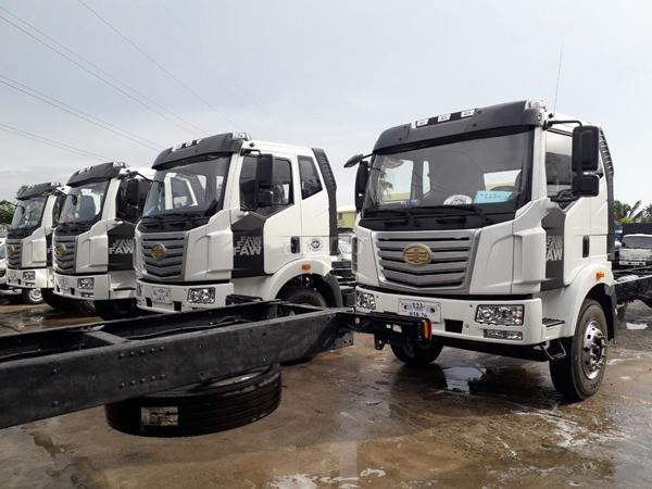 Xe tải 9 tấn thùng siêu dài FAW lắp ráp và Dongfeng nhập khẩu